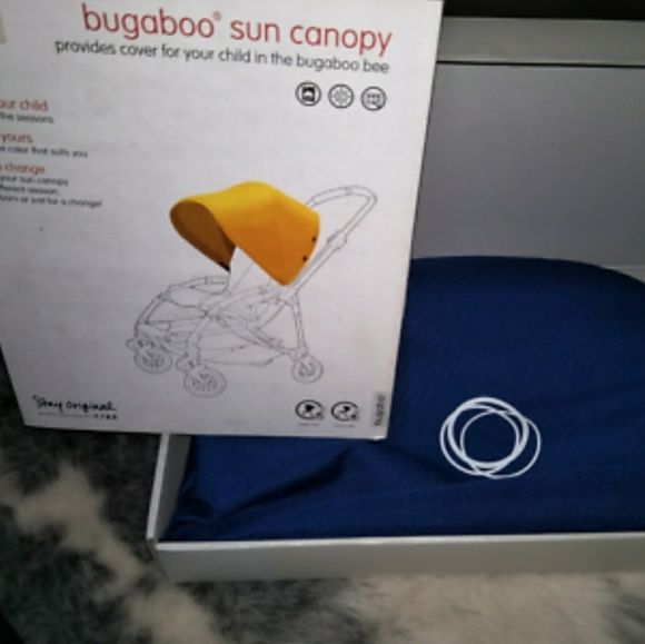 Bugaboo Bee Extendable Blue Sun Canopy & 67% off Bugaboo Bee Handbags - Bugaboo Bee Extendable Blue Sun ...